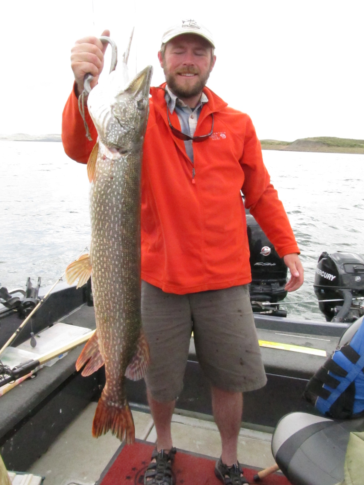 Dean waltee jr with a 37 16 pound northern pike fort for Fort peck fishing report